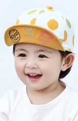 หมวกแก๊ปลายจุด ใต้ปีกหมวกปักการ์ตูนยิ้ม พ่อ แม่ ลูก KUKUJI