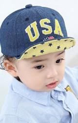 หมวกแก๊ปยีนส์ USA ใต้ปีกหมวกลายดาว