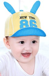 หมวกแก๊ปลายทางแต่งหูกระต่าย ปัก NEW YORK 86