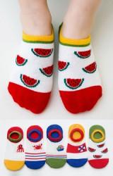 ถุงเท้าเด็กแบบข้อส้นปากตื้นลายท่องเที่ยวทะเล(C069)
