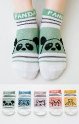 ถุงเท้าเด็กข้อสั้นสีลายสัตว์น้อยน่ารัก ไม่มีกันลื่น (C077)