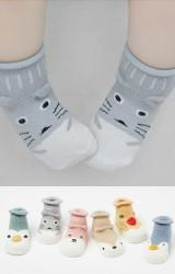 ถุงเท้าเด็กแบบข้อสั้นหน้าสัตว์น่ารัก มีกันลื่น
