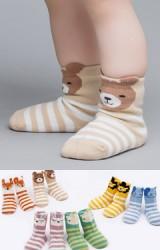 ถุงเท้าเด็กลายขวางหน้าสัตว์น้อยน่ารัก มีกันลื่น