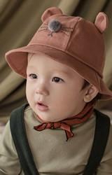 หมวก Bucket แมวน้อย มีสายยืดคล้องใต้คาง  KUKUJI
