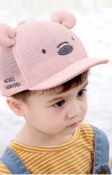 หมวกแก๊ปหมีน้อยผ้าตาข่าย  หูนูน