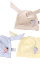 หมวกเด็กแรกเกิดกระต่ายแต่งแครอท