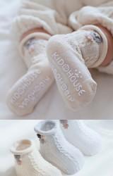 ถุงเท้าเด็กขอบแต่งตุ๊กตาหมีน้อย
