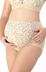 กางเกงชั้นในคนท้องแบบเอวสูง สีเนื้อ ลายแอปเปิ้ล