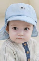 หมวกแก๊ปเด็กด้านหลังมีผ้าตาข่ายบังแดดช่วงคอ   TUTUYA