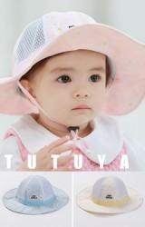 หมวกปีกกว้างสาวน้อยลายดอกไม้ขาว จาก TUTUYA