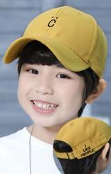 หมวกแก๊ปเด็กปัก C ด้านหลังปัก I LIKE PEOPLE จาก KUKUJI