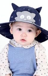 หมวกเด็กปีกกว้างหน้าการ์ตูนแต่งหูแหลมจาก MiLKY FRiENDS