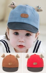 หมวกแก๊ปเด็กปีกอ่อ นแต่งการ์ตูนหมีน้อย TUTUYA