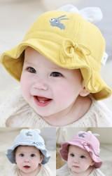 หมวกกระต่ายน้อยผูกโบว์น่ารัก จาก TUTUYA