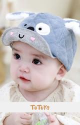 หมวกแก๊ปเจ้าตูบน้อยน่ารัก ผ้าลูกฟูกลายตาราง TUTUYA