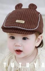 หมวกแฟลตแค๊ปลายทางแต่งหูน่ารัก จาก TUTUYA