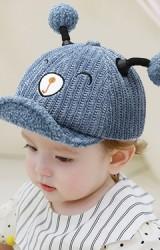 หมวกแก๊ปหมีแต่งหูปอมปอมน่ารัก