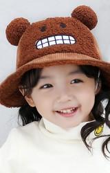 หมวก Bucket หน้าการ์ตูนแต่งปอมปอมน่ารัก