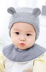 หมวกผูกคางแต่งหูเล็กๆ น่ารัก