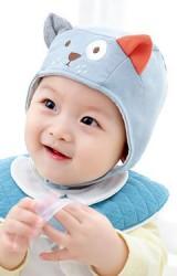 หมวกผูกคางเด็กเจ้าตูบและแมวน้อย