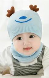 เซ็ตหมวกไหมพรม Baby Deer มาพร้อมผ้าสวมคอ GZMM
