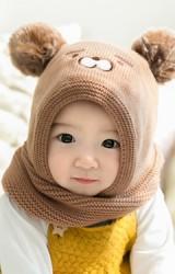 หมวกหมีน้อยแต่งปอมปอม หมวกโม่งเด็ก จาก GZMM