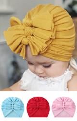 หมวกอินเดียโบว์ผูก 3 ชั้น หมวกเด็กหญิงน่ารัก