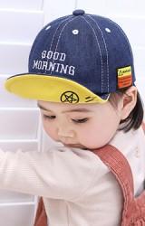 หมวกแก๊ปยีนส์ ปัก GOOD MORNING CAMP