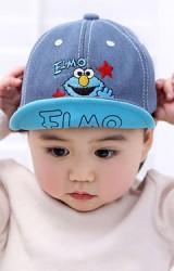 หมวกแก๊ปยีนส์ปัก ELMO