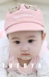 หมวกแก๊ปเด็กเล็กแต่งหูหน้าหมีน้อย TUTUYA