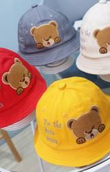หมวก Bucket หมีน้อยปักอักษร