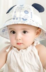 หมวกกันแดดเมิกกี้ ตัวหมวกผ้าพื้นสลับผ้าตาข่าย GZMM