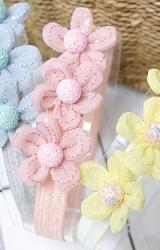 ผ้าคาดผมดอกไม้เรียง 3 ดอก Angel Neitiri