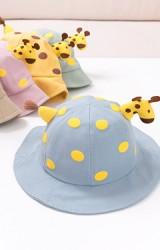 หมวกยีราฟ หมวกปีกรอบกันแดดน่ารัก