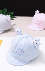 หมวกแก๊ปเด็กเล็กเมฆน้อยลายทาง ปัก baby