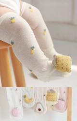 ถุงเท้าเด็กแบบยาวแต่งตุ๊กตาผลไม้