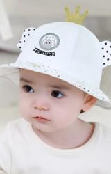 หมวกบักเก็ตช้างใส่มงกุฎ ปักหัวใจ tutuya