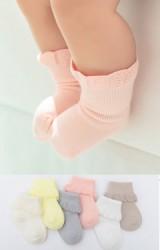 ถุงเท้าเด็กขอบโค้ง ข้อสั้น