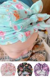 หมวกโบว์น่ารัก หมวกอินเดียลายดอกแบบใหม่