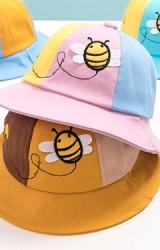 หมวกผึ้งน้อย หมวกกันแดดสลับสีสดใส