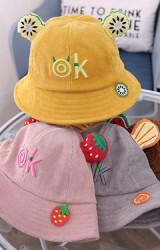 หมวก Bucket ผลไม้ ด้านหน้าปักอักษร ok