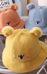 หมวกปีกรอบโคอาลาหูฟูน่ารัก