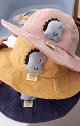 หมวกกันแดดไดโนเสาร์ผ้าลูกฟูก