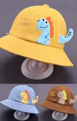 หมวก Bucket ไดโนเสาร์ KIDS DONO  ผ้าลูกฟูก