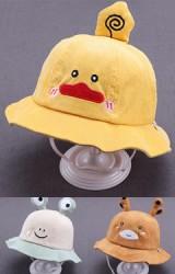หมวกกันแดดรูปสัตว์น้อยน่ารัก ผ้าลูกฟูก