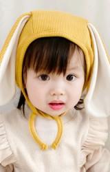 หมวกผูกคางกระต่ายหูยาว ผ้าหนานุ่ม