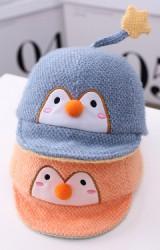 หมวกเพนกวิน ด้านบนแต่งรูปดาว