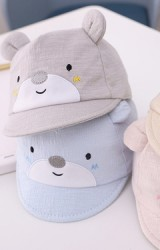 หมวกแก๊ปหมีน้อย หมวกเด็กเล็กผ้านิ่ม