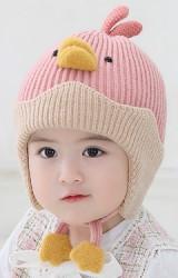 หมวกไหมพรมลูกเจี๊ยบ หมวกกันหนาวเด็กน่ารัก