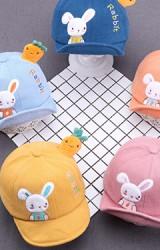 หมวกแก๊ปกระต่ายน้อย ด้านบนแต่งแครอทน่ารัก